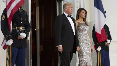 Donald Trump, Melania Trump, Hand, President, TV