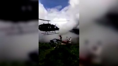 Helicopter crashed, Kill, Man, Colombia, Crash, Death