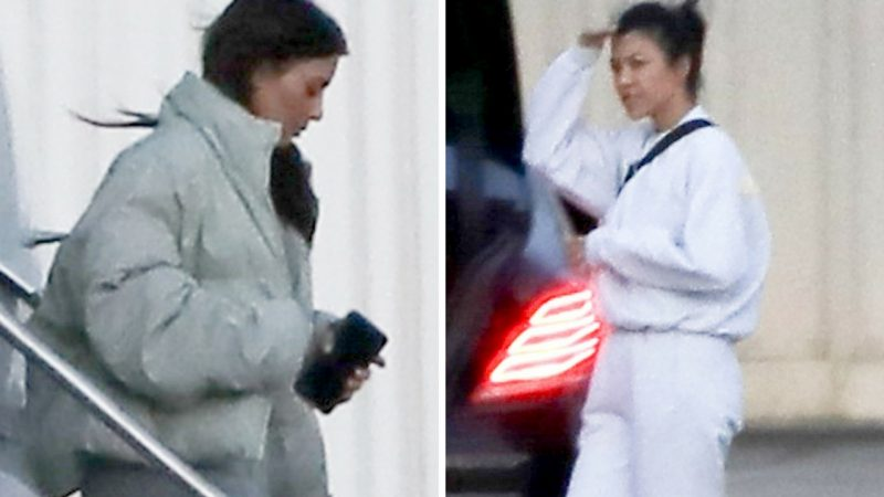 Kim Kardashian, Kourtney Kardashian, Cleveland, Private Jet, Paparazzi