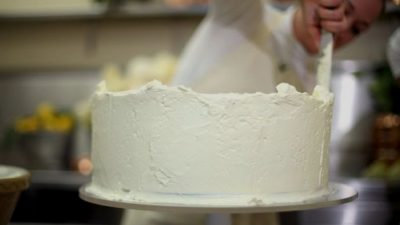 The Royal Wedding cake. Prince Harry said that he is feeling great.