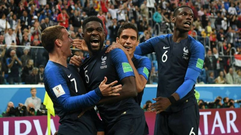 France win the 2018 World Cup final score
