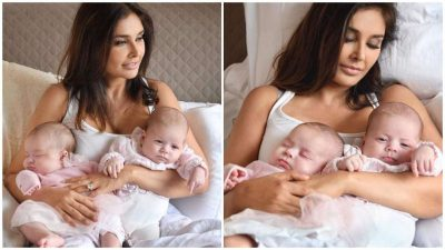 Lisa Ray become mother of twins, healthy twins daughters.