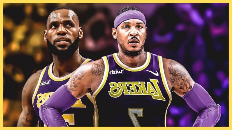 Carmelo Anthony in Lakers Jersey